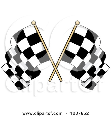 Clipart of Crossed Checkered Racing Flags 4 - Royalty Free Vector Illustration by Vector Tradition SM