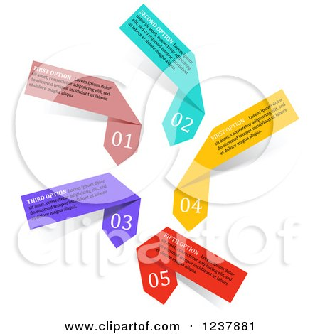 Clipart of Colorful Infographic Arrow Ribbons - Royalty Free Vector Illustration by Vector Tradition SM