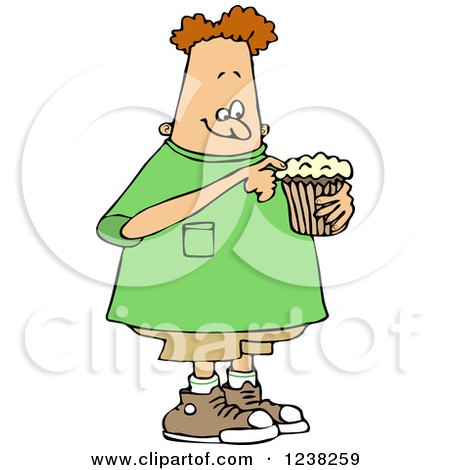 Chubby White Boy Eating a Cupcake Posters, Art Prints