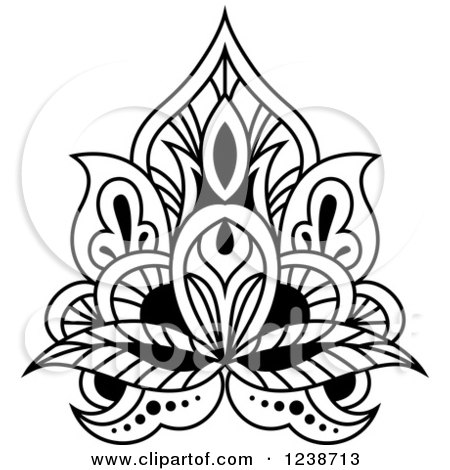 Royalty-Free (RF) Henna Clipart, Illustrations, Vector Graphics #7