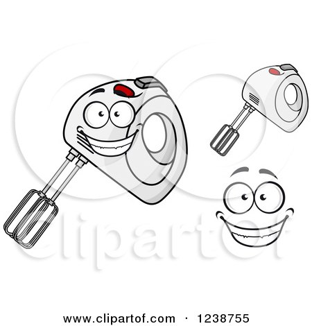 Clipart of a Happy Hand Mixer - Royalty Free Vector Illustration by Vector Tradition SM