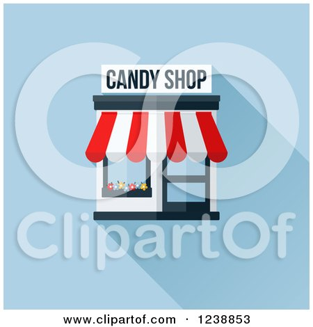 Cartoon Store Awnings Dome Awning Royalty Free Stock