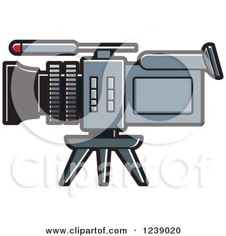 Clipart of a Video Camera - Royalty Free Vector Illustration by Lal Perera