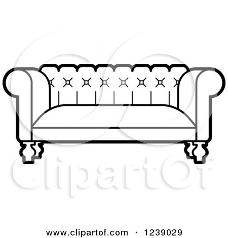 how to draw the back of a couch