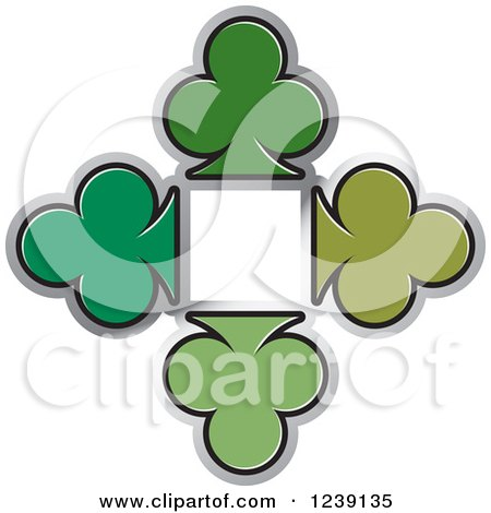 Clipart of Five Ace Playing Cards - Royalty Free Vector ...