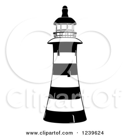 Black and White Striped Lighthouse Posters, Art Prints