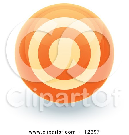 Orange Target Circle Icon Internet Button Posters, Art Prints
