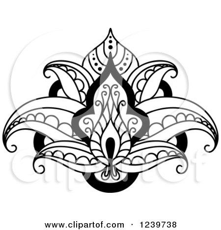 Flower Art Black And White Black And White Lotus Flower