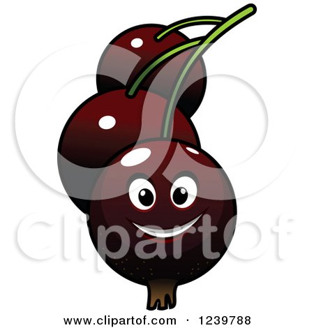 Clipart of a Cartoon Happy Currant - Royalty Free Vector Illustration by Vector Tradition SM
