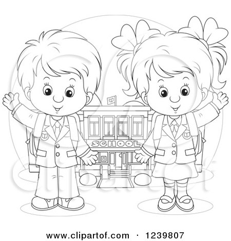 Royalty-Free (RF) First Day Of School Clipart, Illustrations ...