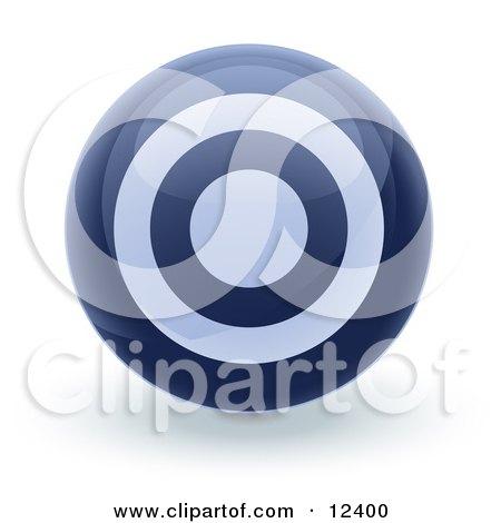 Blue Bullseye Target Circle Icon Internet Button Posters, Art Prints