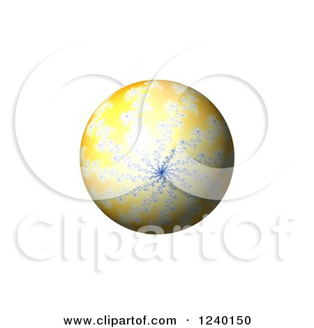 Clipart of a 3d Fractal Spiral Globe on White - Royalty Free Illustration by oboy