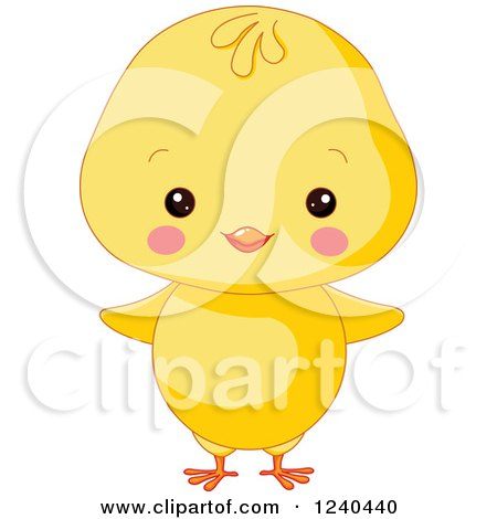 Clipart of a Cute Farm Animal Chick - Royalty Free Vector Illustration by Pushkin