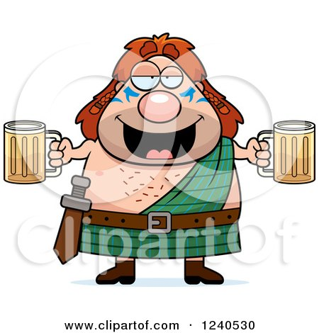 Clipart of a happy celt man royalty free vector - Clipart illustration ...