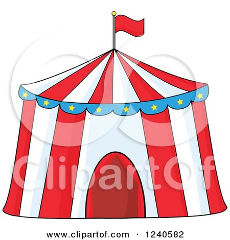Clipart Of A Big Top Circus Tent Royalty Free Vector Illustration