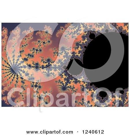 Clipart of a Mandelbrot Fractal Background - Royalty Free Illustration by oboy