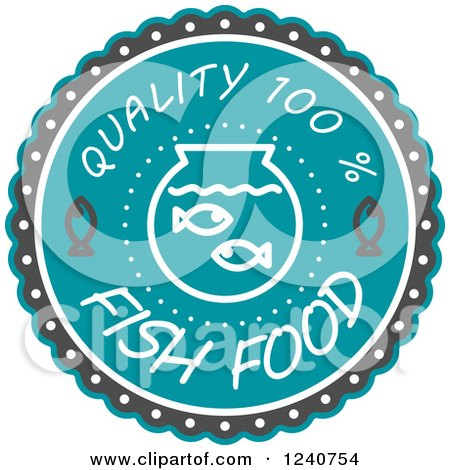 Clipart of a Quality Fish Food Label - Royalty Free Vector Illustration by Vector Tradition SM