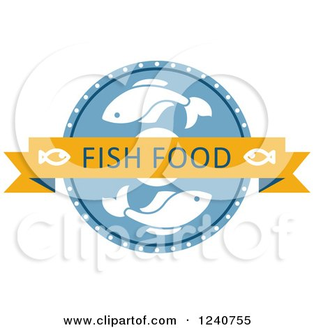 Clipart of a Fish Food Label - Royalty Free Vector Illustration by Vector Tradition SM
