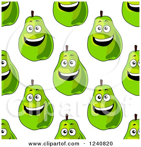 Clipart of a Seamless Background Pattern of Pears - Royalty Free Vector Illustration by Vector Tradition SM