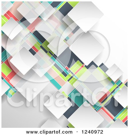 Clipart of a Colorful Geometric Background - Royalty Free Vector Illustration by KJ Pargeter