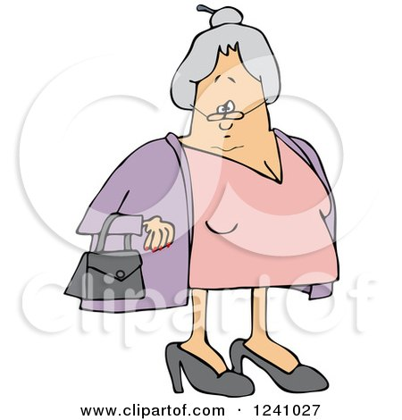 Caucasian Senior Lady with Her Hair in a Bun Posters, Art Prints
