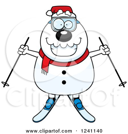 Clipart of a Black and White Careless Shrugging Christmas Snowman ...
