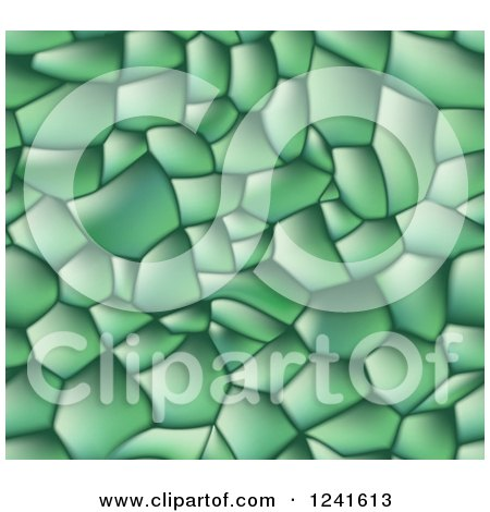Clipart of a Green Seamless Background of Lizard Skin - Royalty Free Vector Illustration by AtStockIllustration