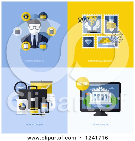 Clipart of Banking Icons - Royalty Free Vector Illustration by elena