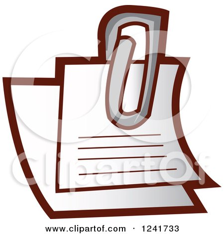 Clipart of a Paperclip and Notes - Royalty Free Vector Illustration by YUHAIZAN YUNUS