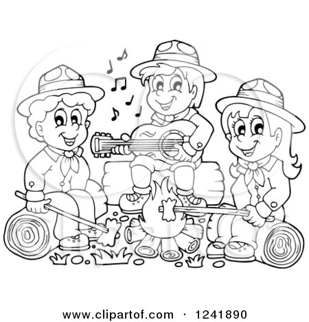 white boy and girl scouts by agasmyfreeipme coloring pages of camping out - Girl Scout Camping Coloring Pages
