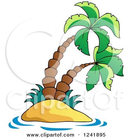 Small Tropical Island with Palm Trees Posters, Art Prints