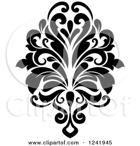 clipart of a black and white arabesque damask design 16 royalty rh clipartof com Damask Clip Art black damask free clip art