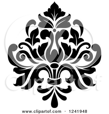 Black vintage elegant damask design element 2 posters art prints by bestvector interior - Design art black and white ...
