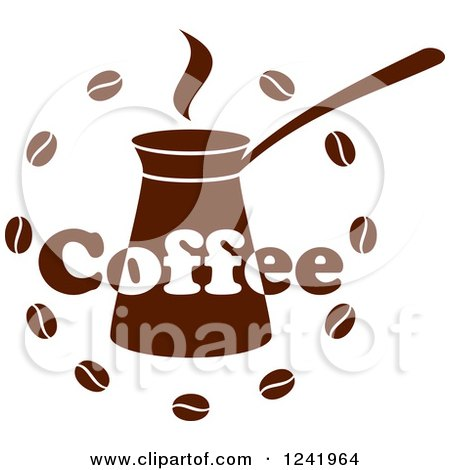 Clipart of a Brown Coffee Label - Royalty Free Vector Illustration by Vector Tradition SM