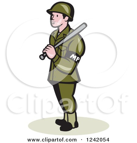 Royalty-Free (RF) Clipart Illustration of a Security Guard Badge ...
