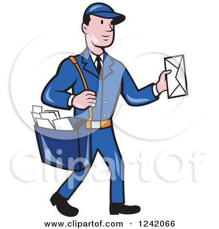 Clip Art Mailman Clipart royalty free rf mailman clipart illustrations vector graphics 1 preview clipart