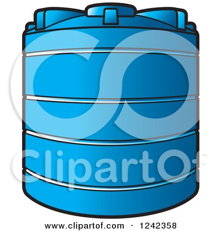 Clipart of a Blue Water Holding Tank - Royalty Free Vector Illustration by Lal Perera