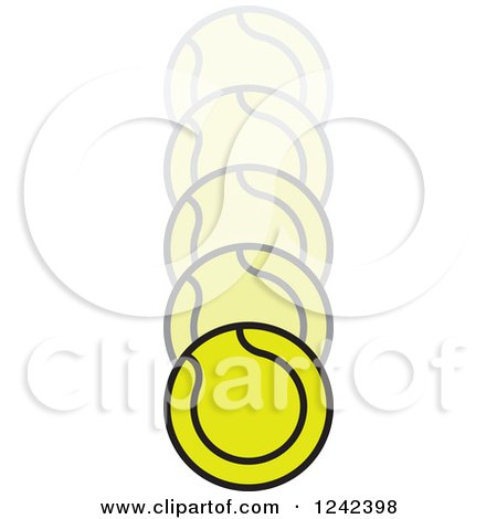 Clipart of a Bouncing Tennis Ball - Royalty Free Vector ...