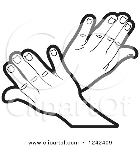 Black And White Crossed Hands