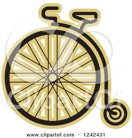 Clipart of a One Wheel Penny Farthing Cycle - Royalty Free Vector Illustration by Lal Perera