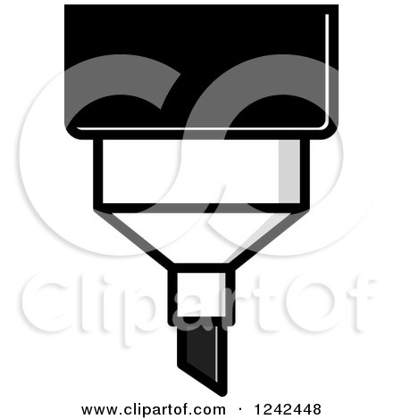 Clipart of a Grayscale Marker Pen - Royalty Free Vector Illustration by Lal Perera