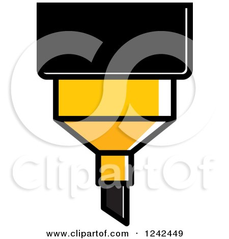 Clipart of a Yellow Marker Pen - Royalty Free Vector Illustration by Lal Perera