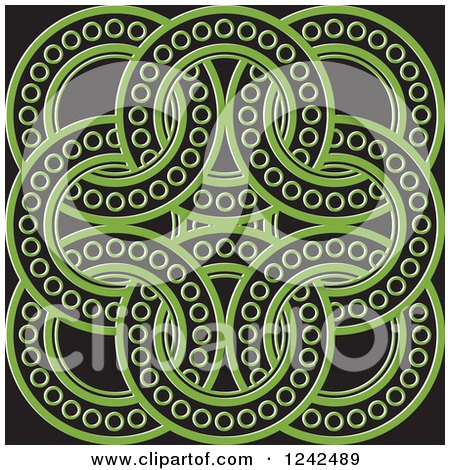 Clipart of Green and Black Celtic Rings - Royalty Free Vector Illustration by Lal Perera