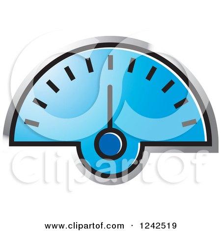 Blue Dash Board Speedometer Posters, Art Prints