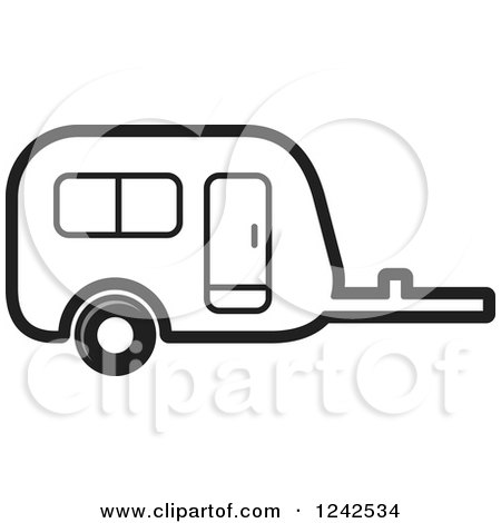 Black And White Caravan Camper Trailer