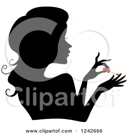 Painting Nails Clip Art Black And White | www.pixshark.com ...