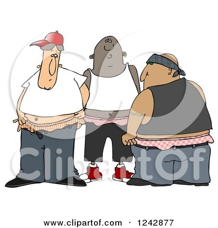 Clipart of a Group of Gangsters With Saggy Pants - Royalty Free Illustration by djart