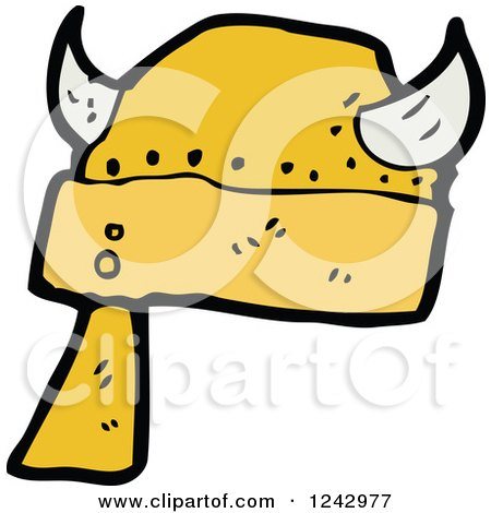 Clipart of a Horned Viking Helmet - Royalty Free Vector Illustration by lineartestpilot