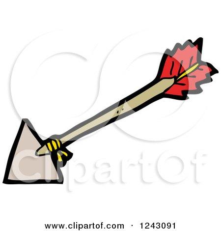 Clipart of an Archery Arrow - Royalty Free Vector ...