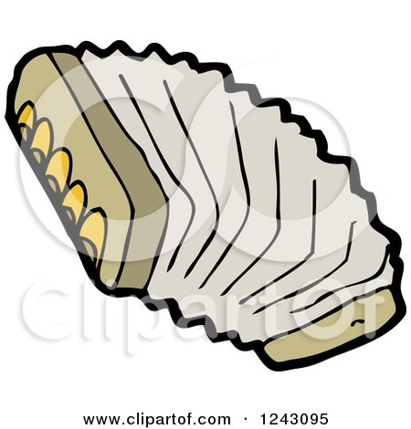 Clipart of a Brown Accordion - Royalty Free Vector Illustration by lineartestpilot